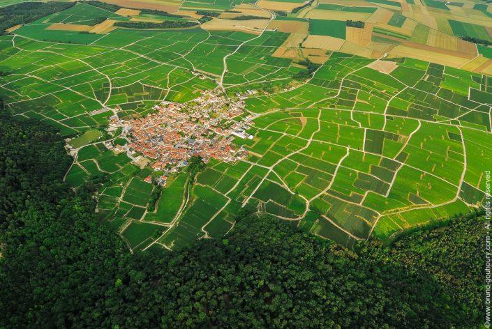 Photographe aérien vignoble champagne terres agricoles Bruno Gouhoury