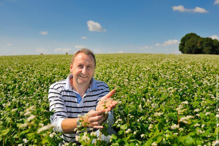 Photographe portrait producteur agriculteur céréalier Bruno Gouhoury