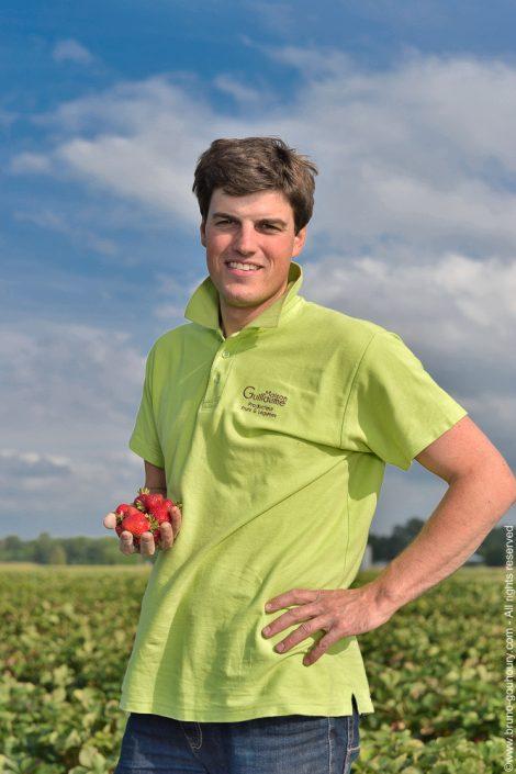 Photographe portrait producteur agriculteur Bruno Gouhoury