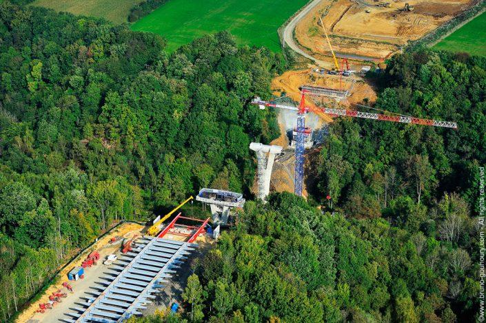 photographe aerien chantier travaux publics autoroute
